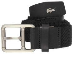 Belts for Men | Lacoste Square Buckle Belt - Black | @ KJ Beckett #mens #belts