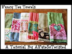 Kimberly and Janet Platt of Quick Points Rulers make cute tea towels featuring the 1 Quick Points Scallop Ruler! These towels make great gifts! Hand Towels Bathroom, Kitchen Towels, Sewing Tutorials, Sewing Projects, Fancy Hands, Shabby Fabrics, Make Your Own Clothes, Sewing Aprons, Sewing Class