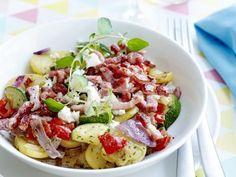 Pasta Salad, Cobb Salad, Feta, Potato Salad, Foodies, Nom Nom, Food Porn, Food And Drink, Potatoes