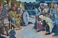 Emperor Romanus IV humiliates a Saljuq peace delegation, late evening, Thursday 25 august 1071