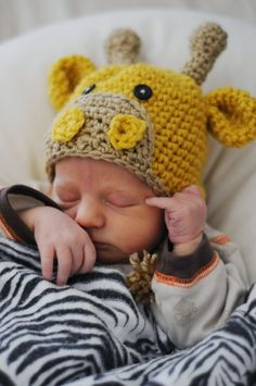 Crochet giraffe hat...Omg, so cute!!!