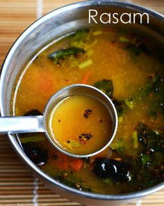 Easy pepper rasam with garlic Pepper rasam recipe for cold best way to fight the throat infection and makes you feel better Garlic is natural antibiotic Veg Recipes, Indian Food Recipes, Vegetarian Recipes, Cooking Recipes, Ethnic Recipes, Recipies, Custard Recipes, Indian Foods, Vegan Soups