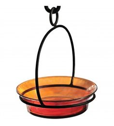 The versatile Cuban dish can be filled with water for a bird and butterfly drinking station, or used to feed mealworms or jelly to your favorite songbirds! It's made with recycled glass and metal and will attract bluebirds, orioles, wrens, titmice, chickadees, butterflies and more! This attractive bowl is available in 6 colors: clear, lime, red, fuschia, orange and aqua.