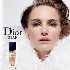 Natalie for DiorSkin Stara?Actress Natalie Portman is ready for her closeup as the face of Dior Cosmeticsa? new makeup range called DiorSkin Star. Parfum Dior, Beauty Ad, Beauty Makeup, Glamour Makeup, Beauty Skin, Base Iluminadora, Bridal Makeup, Wedding Makeup, Natalie Portman Dior