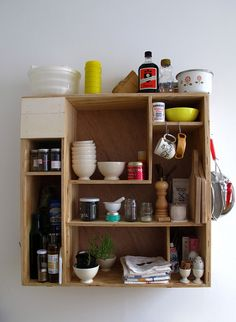 kitchen shelf.