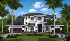 Tropical House Plan: Caribbean Island Beach Style Home Floor Plan