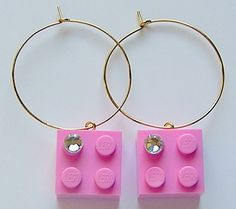 Light Pink LEGO R brick 2x2 with a Diamond by MademoiselleAlma, $14.99 #LEGO