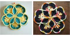 Here's the link to the tutorial >> DIY Crochet Starburst Hotpad <<…