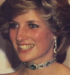 Glowing Moment?: This Art-deco emerald and diamond choker was a wedding gift to Diana from the Queen. Diana wore this on many occasions including to a banquet held by the King of Malaysia in November 1993. The most famous wearing of this piece was in October 1985 in Australia when Diana it as a headband. It remains one of the most admired and adored pieces of jewelry of all time. It is now part of a special exhibit.