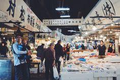 Tsukiji fishmarket, Tokyo, Japan