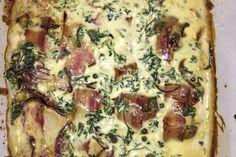 Schweinefilet in Bacon mit Frischkäsesoße überbacken 4