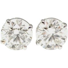 Pre-owned 2.51 and 2.65 Carats Diamond Gold Ear Studs and other apparel, accessories and trends. Browse and shop related looks.