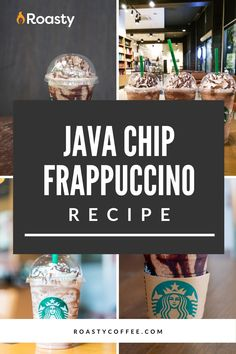 Try out this homemade java chip frappuccino! Doesn't everything taste better homemade anyway? If you're looking to treat yourself, or you're really just craving this Starbucks order, give this recipe a go! FYI- If you like coffee and chocolate, you probably already have the ingredients in your cabinet! Frappuccino Recipe, Starbucks Frappuccino, Coffee Drink Recipes, Coffee Drinks, How To Order Starbucks, Coffee Ideas, Chocolate Syrup, Blended Coffee, Coffee Humor