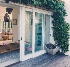 Stacking sliding doors to open up the house for tradewinds Balcony Doors, Sliding Patio Doors, Sliding Glass Doors, Door Design, House Design, Stacker Doors, Slider Door, Pole Barn Homes, House Doors