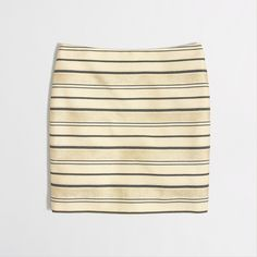 Factory shiny-stripe mini : Mini & A-Line | J.Crew Factory
