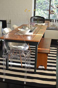 Black and white homegoods rug