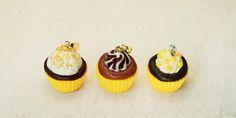 sweet sunny yellow cupcake pendant - mini food kawaii handmade…
