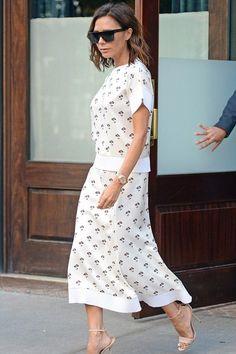 Victoria Beckham wearing Victoria Beckham D-Frame Acetate Sunglasses