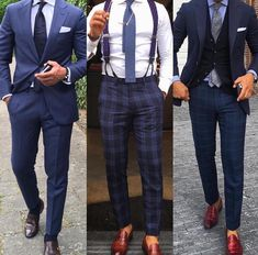 The Top 30 Men's Fashion and Style Mistakes to Avoid at All Costs Nobody expects you to be perfect all the time. However, there are some style mistakes you should avoid at all cost. Der Gentleman, Gentleman Style, Mode Masculine, Mens Fashion Suits, Mens Suits, Men's Fashion, Terno Slim, Monday Outfit, Suit And Tie