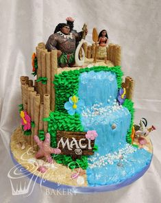 Moana cake, style 1