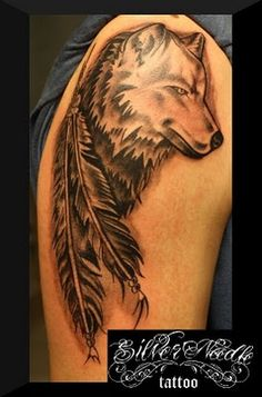 native american wolf tattoos - Google Search