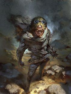 LOL FAN ART- The Prodigal Explorer Ezreal, pu zhou on ArtStation at https://www.artstation.com/artwork/0zq18