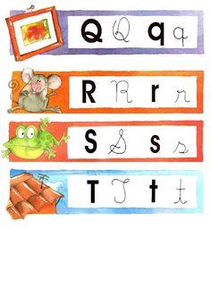 Estas fichas coloridas são ótimas para montar jogos com a turma! Por exemplo, embaralham-se as fichas e cada criança retira uma. Ela pode fa... Letters And Numbers, Classroom Activities, Professor, Peter Pan, Back To School, Alphabet, Preschool, Writing, Reading