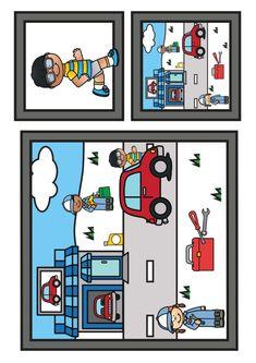 Thema vervoer; spellen voor kleuters | Klas van juf Linda Kids Education, Kitsch, Kids Rugs, Comics, Montessori, Tools, Early Education, Kid Friendly Rugs, Comic Book
