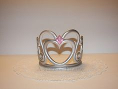 Fondant Heart Princess Tiara Crown, Sweet 16 Cake Topper, Queen Crown Cake Topper In Stock and Ready to Ship