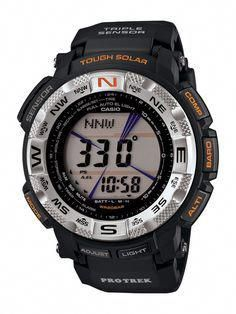 Casio Protrek Watches - Designed for Durability. Casio Protrek - Developed for Toughness Forget technicalities for a while. Let's eye a few of the finest things about the Casio Pro-Trek. G Watch, Casio Watch, Radio Controlled Watches, Casio Protrek, Solar Watch, Casio G Shock, Digital Watch, Watches For Men, Casual Watches
