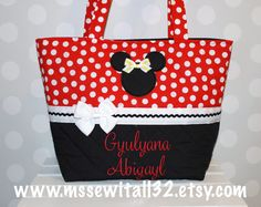 Red Polka Dot  Minnie/Mickey Mouse  Purse / Tote / by MsSewItAll32
