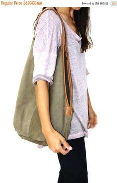 Marina verde cuero bolso - bolsa de cuero suave - cada día monedero - oficina bolso - bandolera - bolsa Casual - Charley