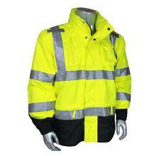 Radians Class 3 Heavy Duty Rip Stop Waterproof Rain Jacket Rain Pants, Rain Suit, Safety Clothing, Waterproof Rain Jacket, Rain Gear, Yellow Black, Motorcycle Jacket, Windbreaker, Oxford