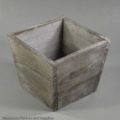 Buy Grey Vintage Wood Tapered Planter at the best wholesale prices. Check this and more Baskets & Wood Containers for cheap & with national shipping. Wooden Containers, Wooden Planter Boxes, Wholesale Flowers And Supplies, Modern Centerpieces, Vintage Wood, Flower Vases, Dried Flowers, Painting On Wood, Planting Flowers