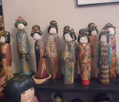Creative Kokeshi dolls of great individuality (One-of-a-kind-works)