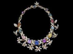 High Jewelry Gemstone Necklace by Jean Schlumberger for Tiffany Tiffany & Co., Jewellery Exhibition, Expensive Jewelry, Tiffany Jewelry, Schmuck Design, High Jewelry, Necklace Designs, Antique Jewelry, Gemstone Jewelry