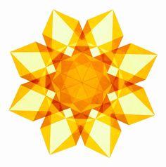 Items similar to Adam's Golden Yellow Waldorf Window Star on Etsy Paper Stars, Golden Yellow, Kite, Origami, Cool Designs, Paper Crafts, Rainbow, Windows, Crafty