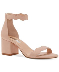 INC International Concepts Hadwin Scallop Block-Heel Sandals, Only at Macy's - Sandals - Shoes - Macy's