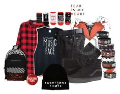 """""""Tear In My Heart- Twenty One Pilots"""" by bandsvansandsodacans ❤ liked on Polyvore featuring H&M, BRAX, Vans and ASOS"""
