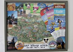 Disney World {Shadow Box}- A cute idea to remember your next trip to Disney World, or any vacation!
