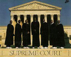 '88 The Supreme Court - L to R: Moncrief, Jordan, Barkley, Moses, Person, Harper, Robertson