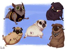 That bottom right one was totally inspired by a friends dog. He sits just like that and is equally tubby. Prints:...