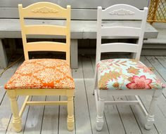 A pair of chairs that needed some love.