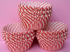 50 Red Striped Carnival Cupcake Liners by clementineparties