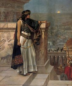 Queen Zenobia's Last Look Upon Palmyra Herbert Gustave Schmalz. - Zenobia, queen of ancient Palmyra, who defied the Roman Empire by seizing Egypt. But the Empire struck back, defeating her in 274 Asian History, Women In History, World History, Ancient History, Black History, History Class, Art History, Great Women, Amazing Women