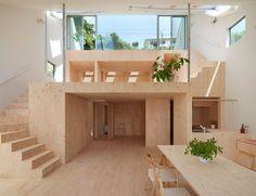 "architags: ""Hata Tomohiro Architect & Associates. 元斜面の家/ Slope House. Kobe. Japan. photos: Hata Tomohiro Architect & Associates """