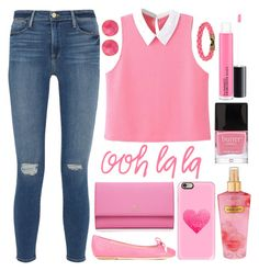"""""""#459"""" by lost-in-a-daydr3am ❤ liked on Polyvore featuring Frame Denim, Moschino, Kate Spade, Saachi, L4K3, Butter London, Victoria's Secret, MAC Cosmetics and Casetify"""