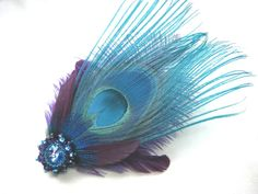 peacock hairpiece
