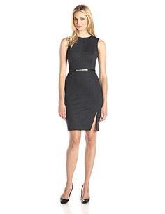 Calvin Klein Women's Sleeveless Sheath Dress, Charcoal, 12 Calvin Klein http://www.amazon.com/dp/B0140YRBR6/ref=cm_sw_r_pi_dp_wD8Iwb0VWMQMG