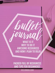 Figuring out how to bullet journal, or what it is? This post is perfect for you, containing tons of great resources and sample page layouts for beginners - hellobrio.com